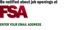 Be notified about job openings at FSA. Enter your email address.